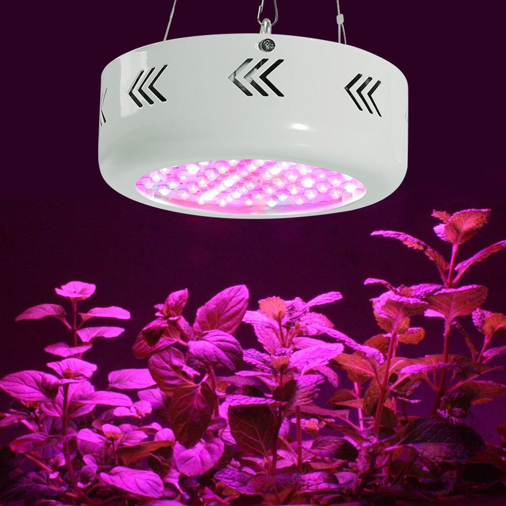UFO Led Grow Light, 200W Full Spectrum Plant Light with IR and UV for Indoor Plants Seeding, Growing and Flowering