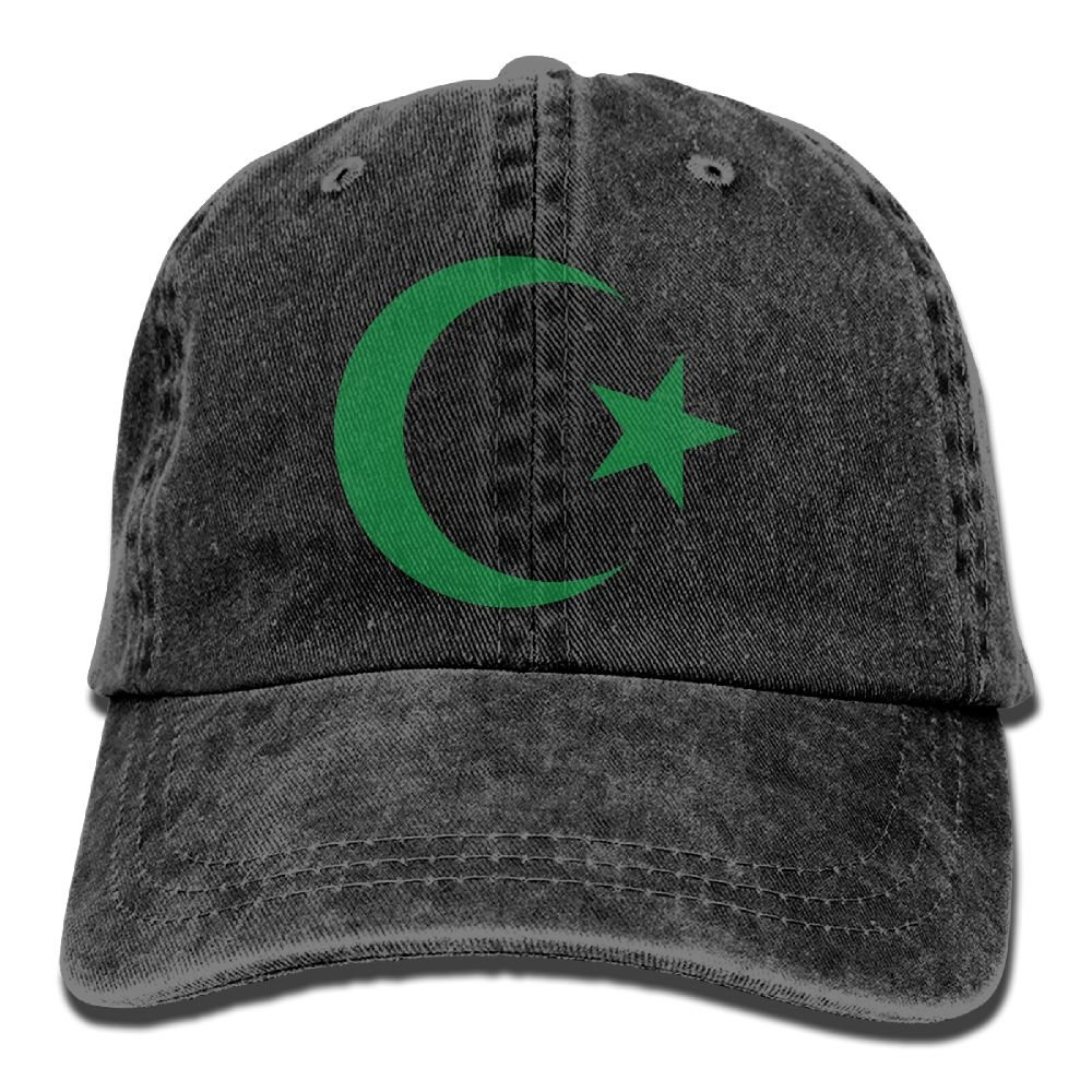 Trableade Islamic Sign Of The Crescent Constellation Adult Sport Adjustable Structured Baseball Cowboy Hat
