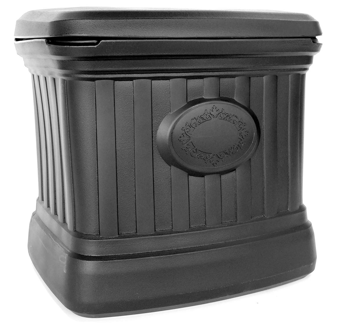 B07H3ZYRNT FCMP Outdoor SB120-BLK Residential Outdoor Storage Bin, Black 71c1BWP9K1L