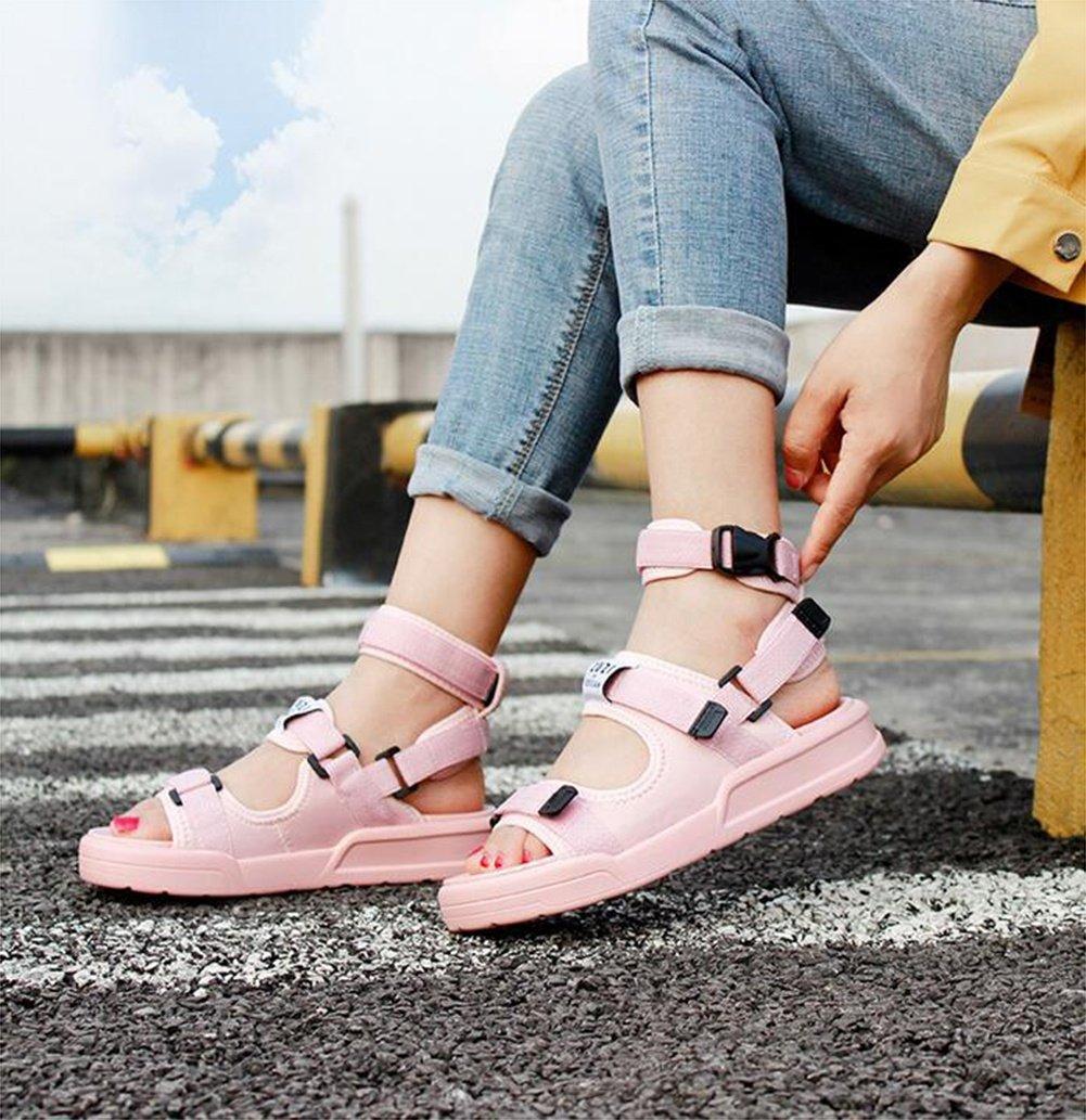NVXIE Sandali all'aperto Donna Stagione estiva Fondo Fondo Fondo spesso Scarpe da spiaggia tempo libero sportivo pantofola Due modi di indossare, rosa, US7.5 EU38 UK5.5 CN38 fac003