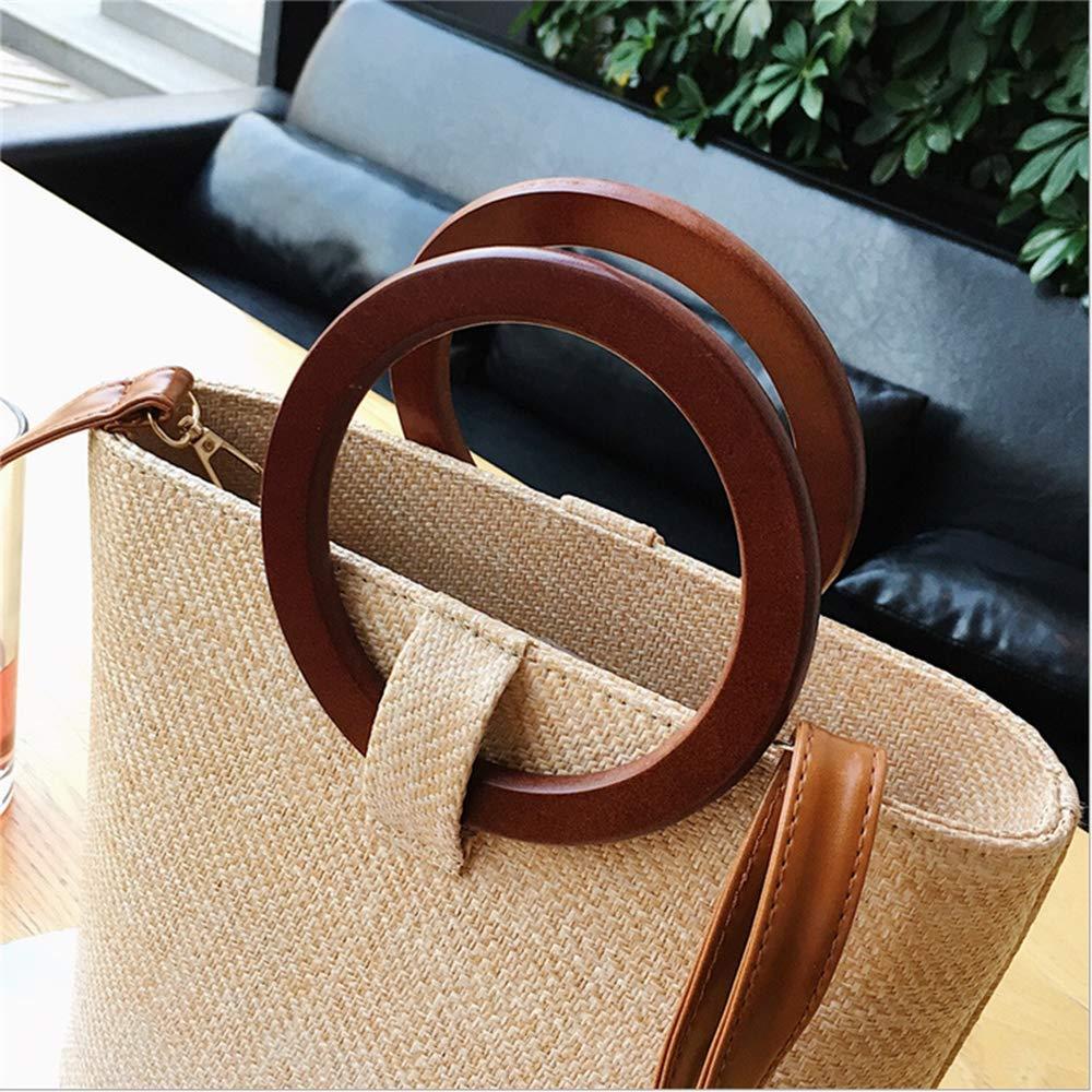 Model Worker 4PCS Wooden Round Shaped Handles Replacement for Handmade Bag Handbags Purse Handles Dark Brown
