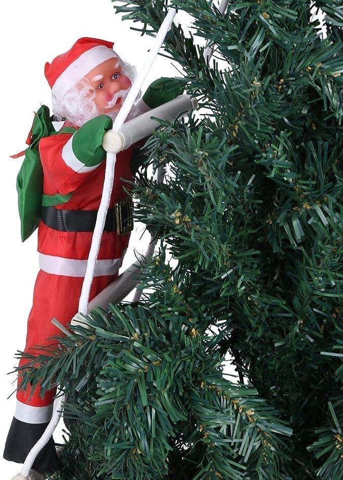 Adorno anta Claus Escalada Papá Noel Juguete Árbol de Navidad Interior/Exterior Adorno Colgante Decoración para Chrismes Hogar