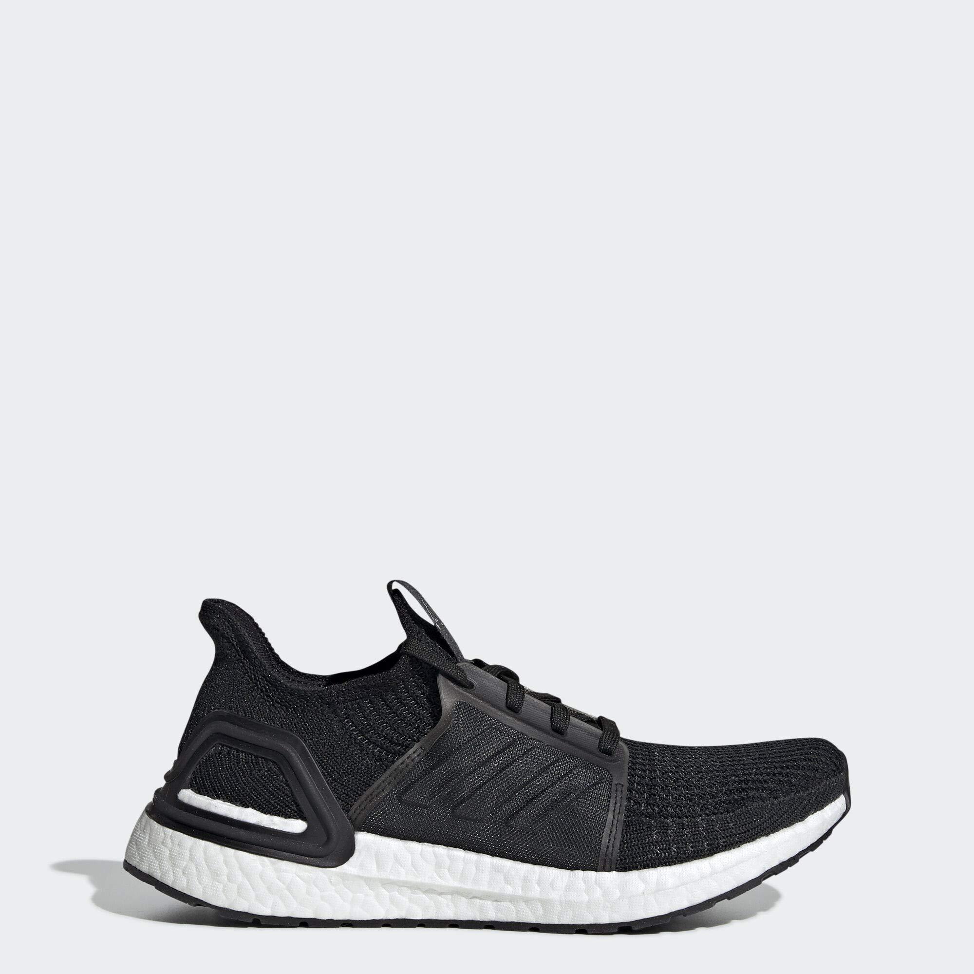 adidas Women's Ultraboost 19 Running Shoe, Black/Grey/Solar Orange, 7.5 M US by adidas