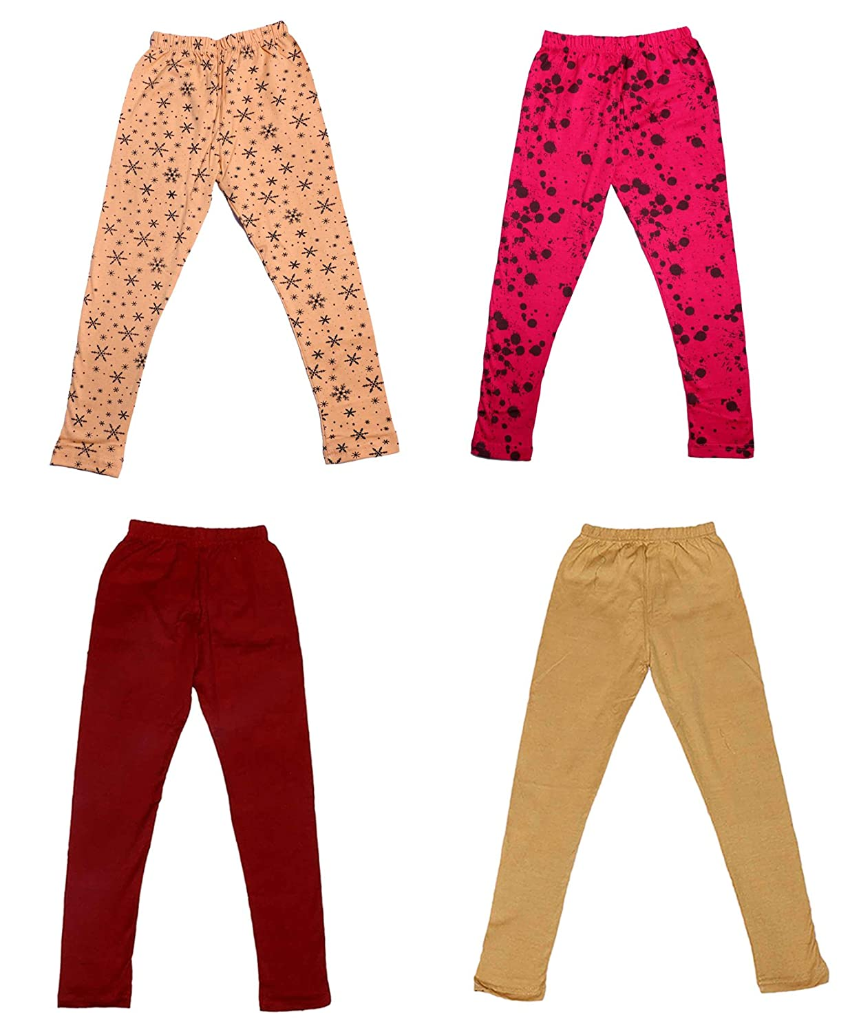 and 2 Cotton Printed Legging Pants Indistar Girls 2 Cotton Solid Legging Pants /_Multicolor/_Size-4-5 Years/_71400011920-IW-P4-26 Pack Of 4