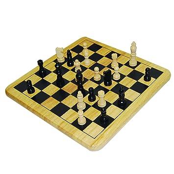 Amazoncom Wood Chess Set Toys Games