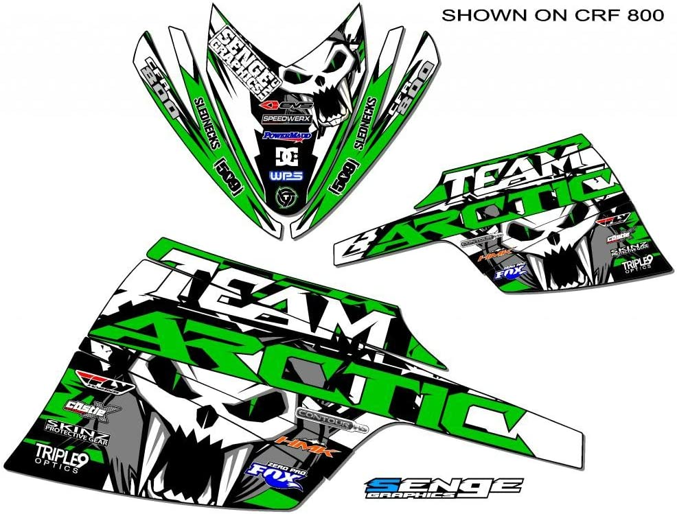 Compatible with Arctic Cat All Years ZR 120 Team Arctic Green Wrap