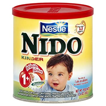 Nestle Nido Milk Powder, Age 1+ with Prebiotic Ingredients, 12 6-Ounce  Containers (Pack of 3)