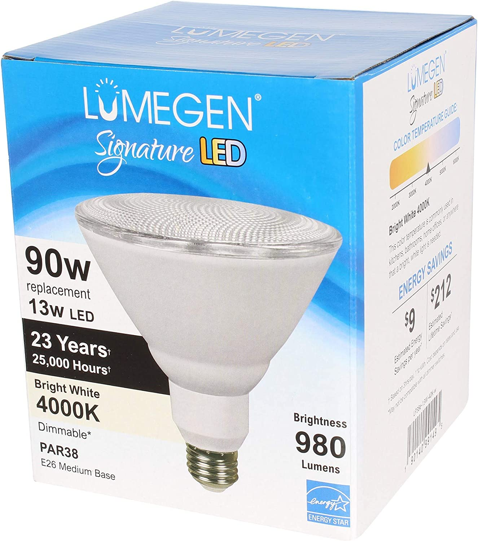 980 Lumens Dimmable Wet Rated 5000K Case of 20 LED PAR38-13 Watt
