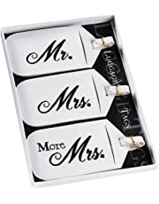 Lillian Rose 3 Mr. Mrs. More Matching Couple Luggage Tags