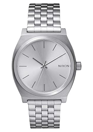 ab8b161e2 Nixon Time Teller All Silver Women's Watch (37mm. All Silver Face & Metal  Band
