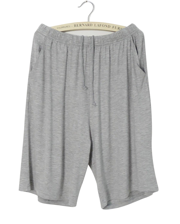 fce570c361 Dolamen Homme Bas de pyjama Shorts, Homme Coton modal Sous-vêtements  Caleçon Boxer Trunk bas de ...