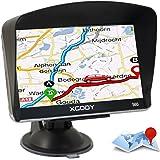 Xgody 560 Portable Car Truck GPS Navigation 5 Inch Sat Nav Touch Screen Built-in 8GB 128MB RAM FM MP3 MP4 Lifetime Map Vehicle Navigator with Sun Shade