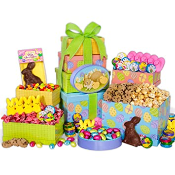 Happy easter gift tower amazon grocery gourmet food happy easter gift tower negle