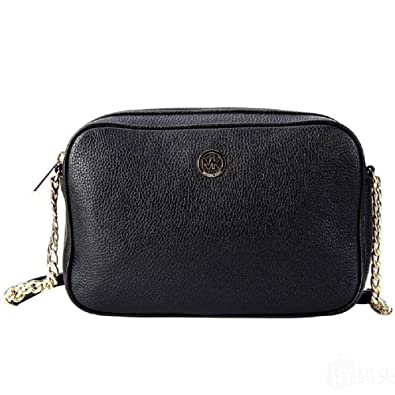 38099bfd223d MICHAEL Michael Kors Fulton Large East West Leather Crossbody Bag in Black:  Handbags: Amazon.com