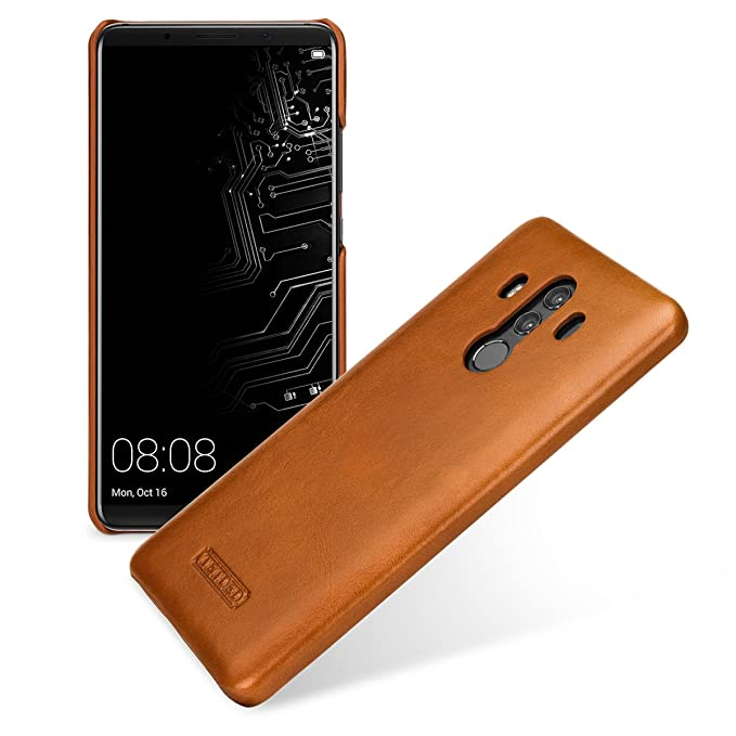 newest 2f6d0 ef80b TETDED Premium Leather Case for Huawei Mate 10 Pro BLA-L09 BLA-L29 Dual  SIM, Snap cover, Caen (Vintage Brown)