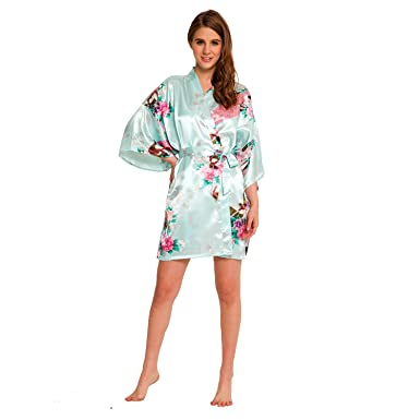 6801439d4d Kimono Peacock Robe SR-13 Short with A Free Gift (Extra  10 Value ...