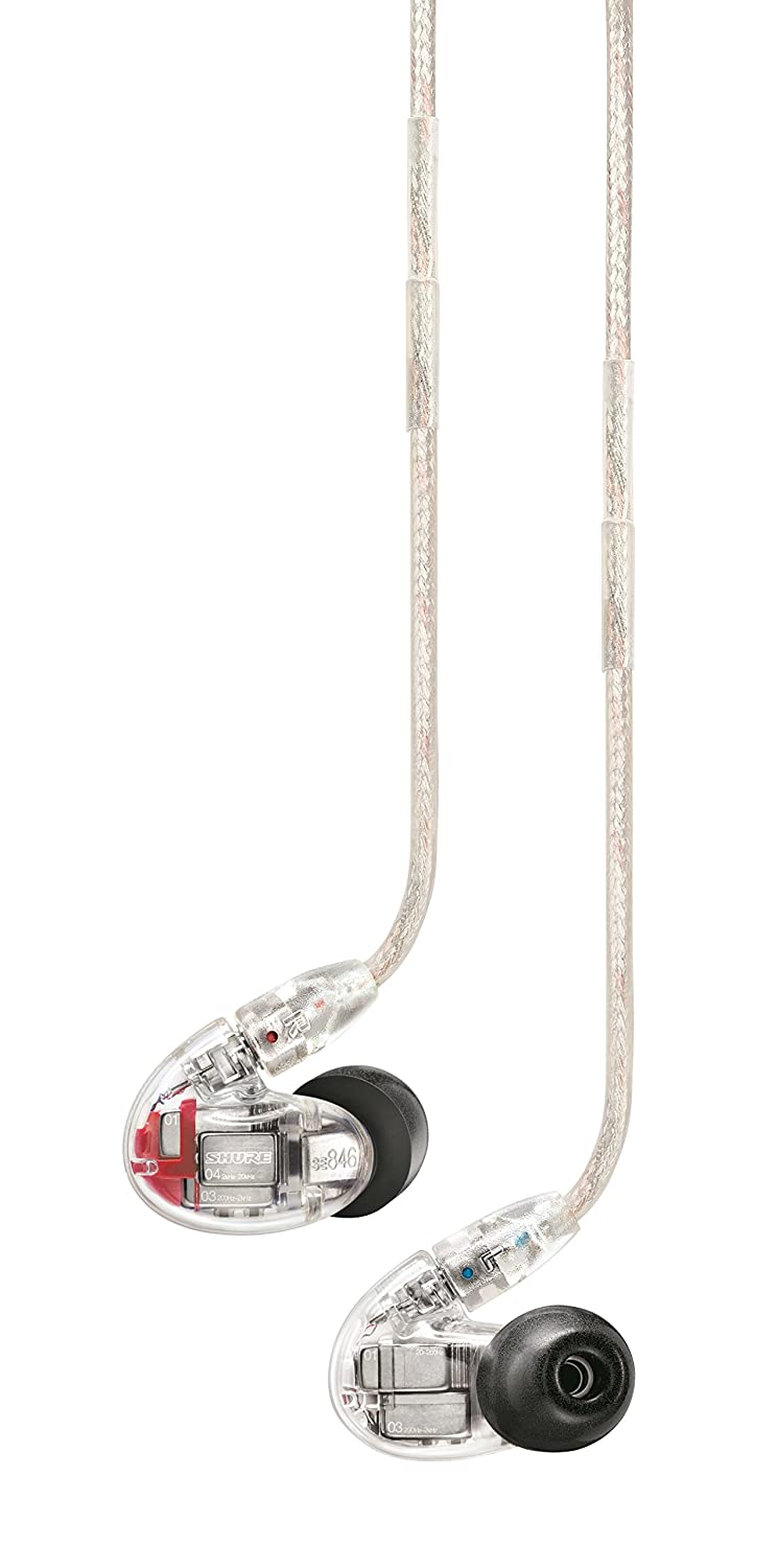 Shure SE846-CL Sound Isolating Earphones with Quad MicroDrivers and Subwoofer