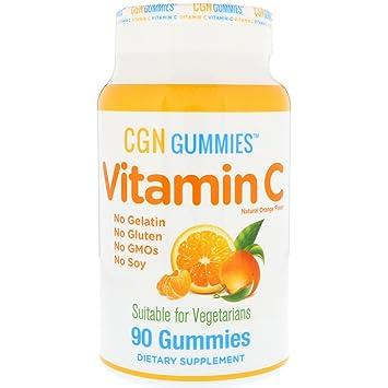California Gold Nutrition Vitamin C Gummies Gluten-Free Non GMO No Gelatin Natural Orange Flavor