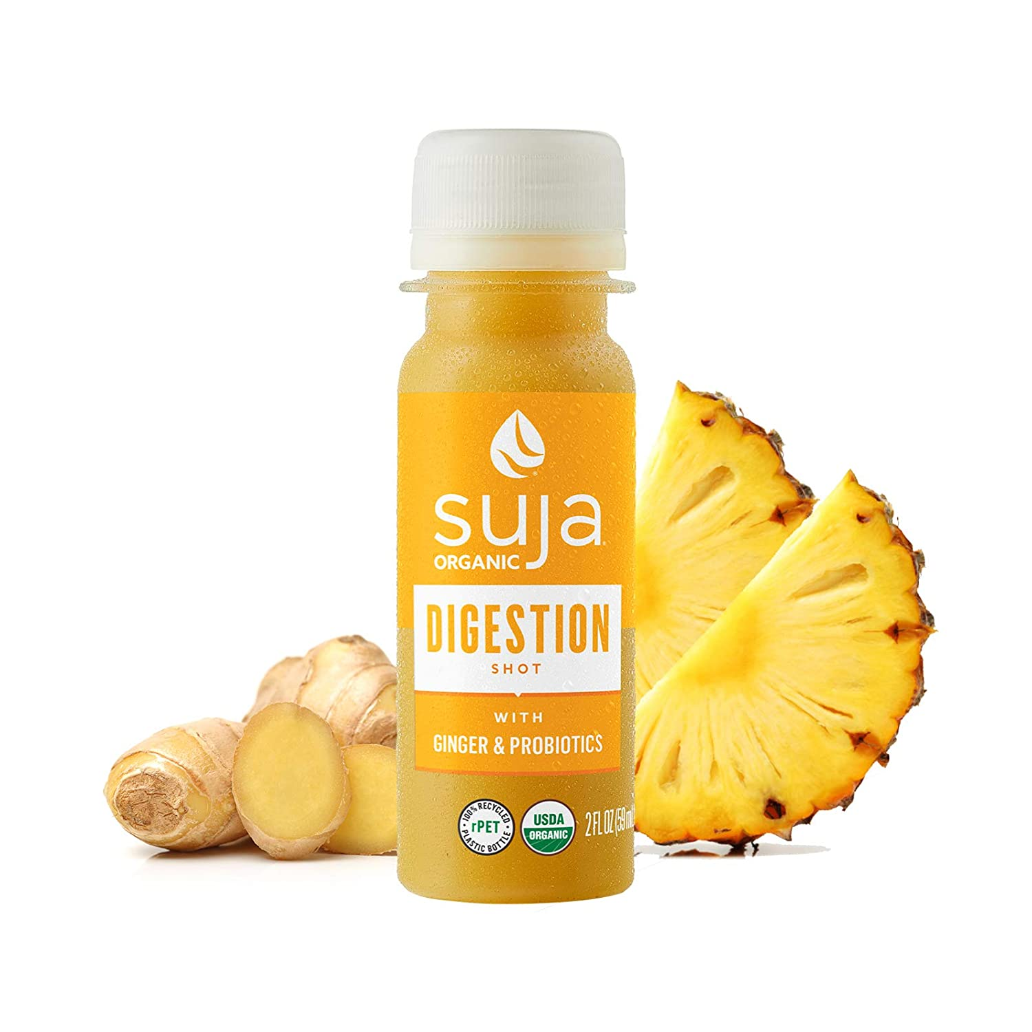 Suja Organic Digestion Shot (30 Pack) with Ginger, Apple Cider Vinegar, Ginseng and Probiotics | Support Immune + Digestive Health | Boost Gut Health | Fresh, Organic & Nutrient-Packed | Vegan Cold-Pressed Wellness Shot