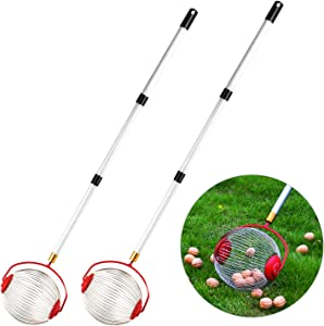 C-CHAIN Medium Nut Gatherer, Rolling Nut Harvester Ball Picker, Adjustable Lightweight Outdoor Manual Tools Picker Collector Walnuts Pecans Crab Apples Nerf Darts and Ball 1'' to 3'' in size