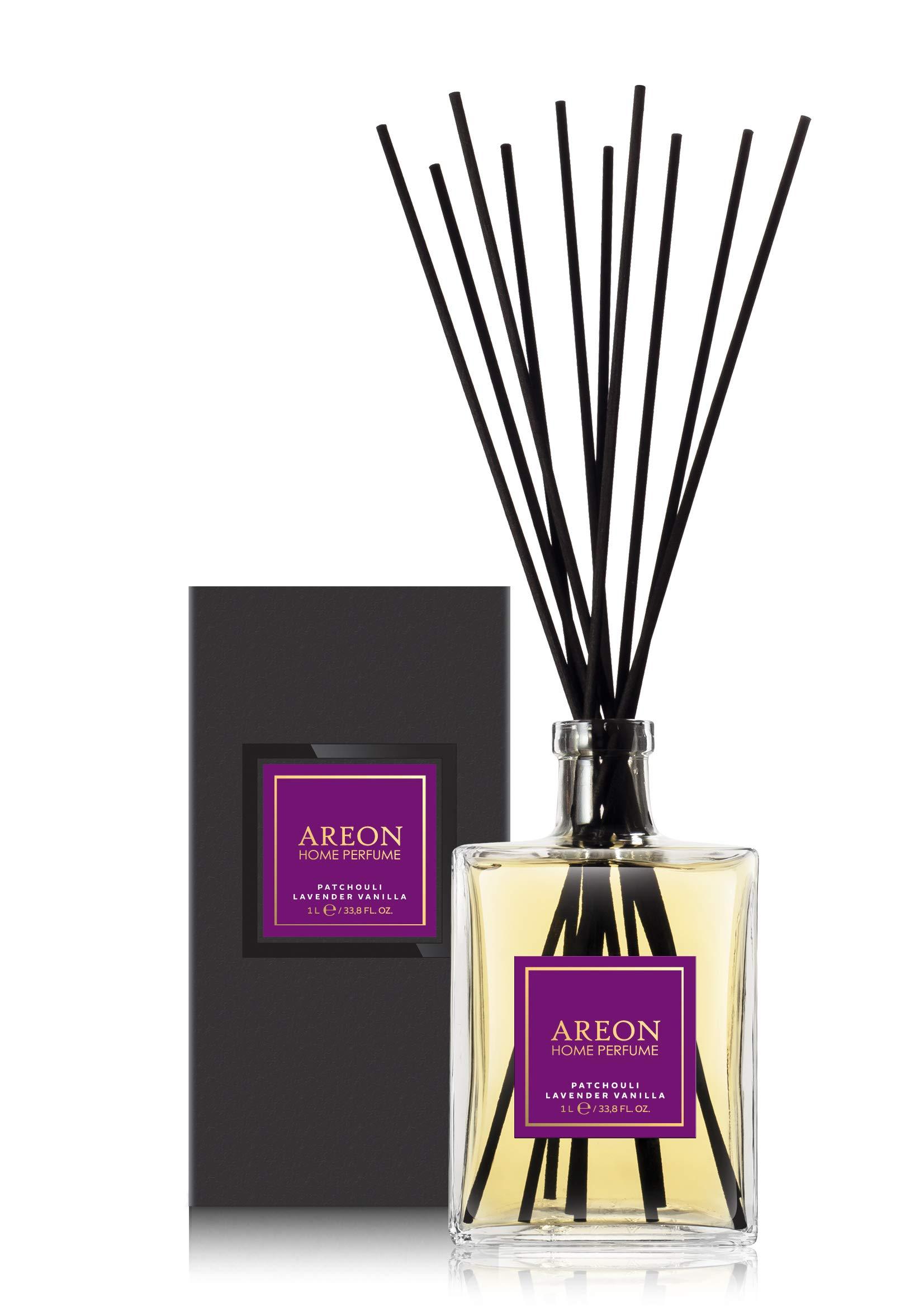 Areon Home Perfume Sticks - 1 Liter (34 OZ) Patchouli-Lavender-Vanilla