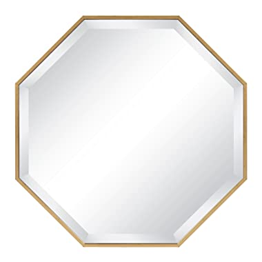 Kate and Laurel Rhodes Octagon Framed Wall Mirror, 24.75x24.75, Gold
