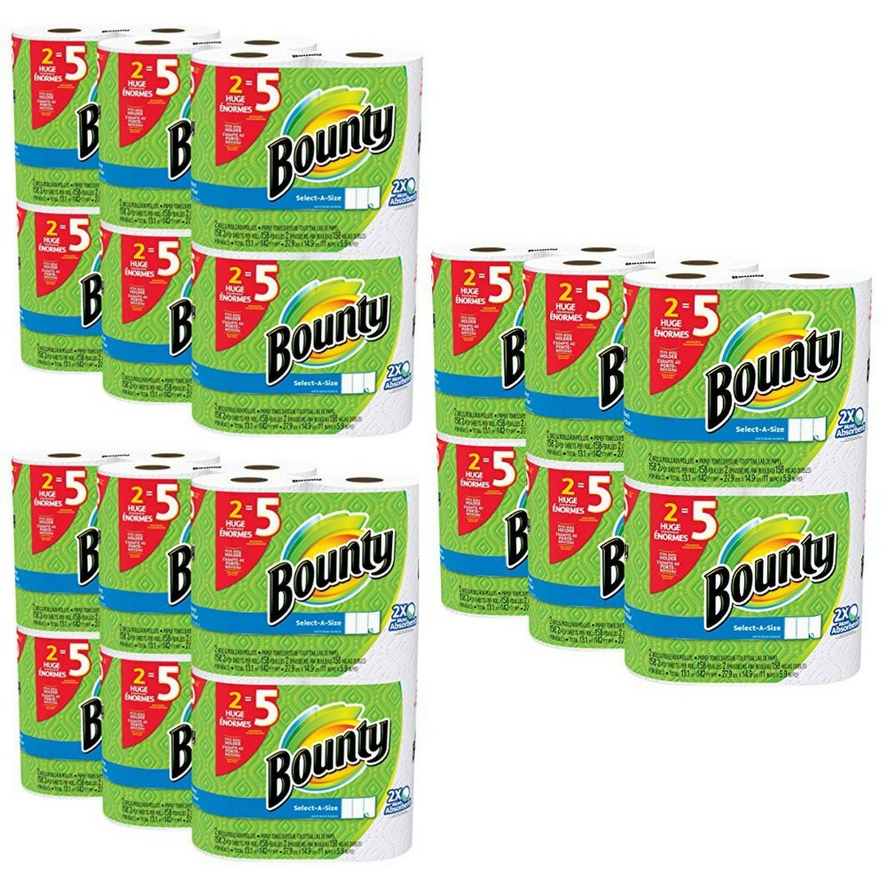 Bounty Select-a-Size Paper Towels, White, 12 Huge Rolls (3 Pack (15 Jumbo Rolls)) by Bounty (Image #2)