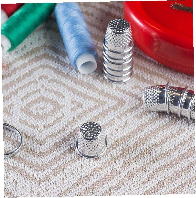 KHHGTYFYTFTY 10 Piezas de Metal Dedo Protectores de Costura Dedales de la Vendimia del Arte de DIY Herramientas de Costura a Medida Protecci/ón Suministros de Trabajo Hecho a Mano Pin Escudos de Plata