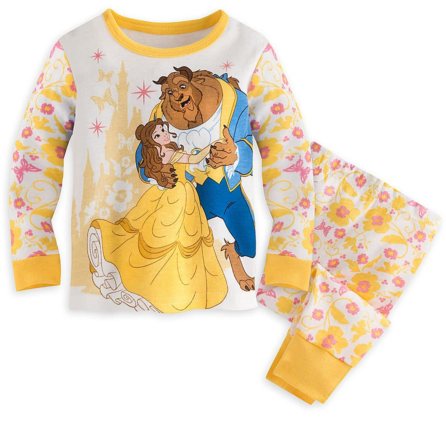 Amazon Disney Belle and Beast PJ PALS Pajamas for Baby White