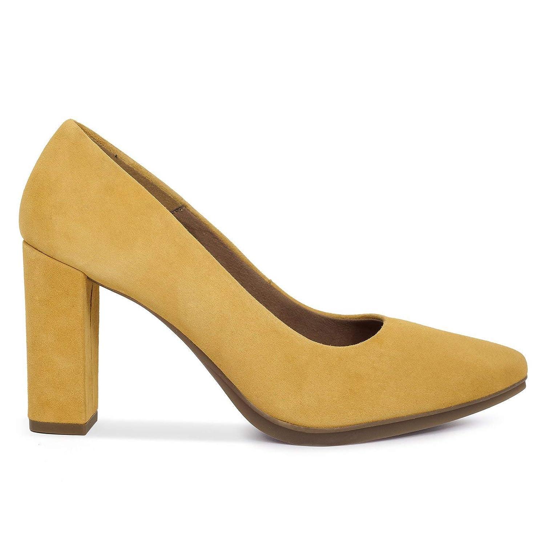 Urban - Zapatos de tacón Alto Mujer Mostaza