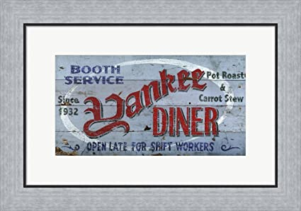 Amazon Yankee Diner By Red Horse Signs Framed Art Print Wall