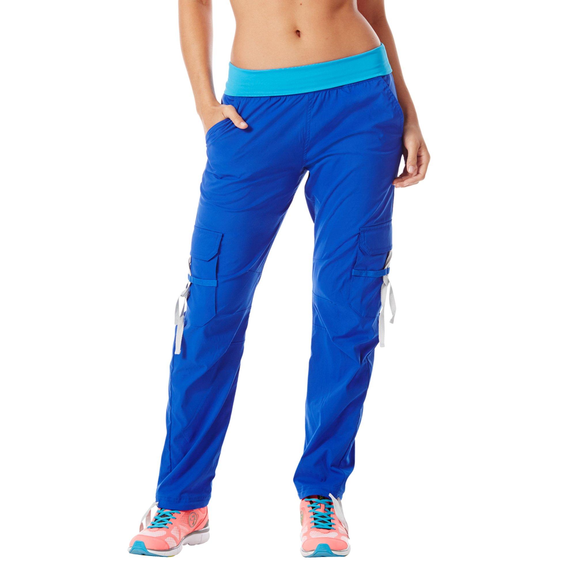 Zumba Women's Craveworthy Cargo Pants (XS, Surfs up Blue) by Zumba