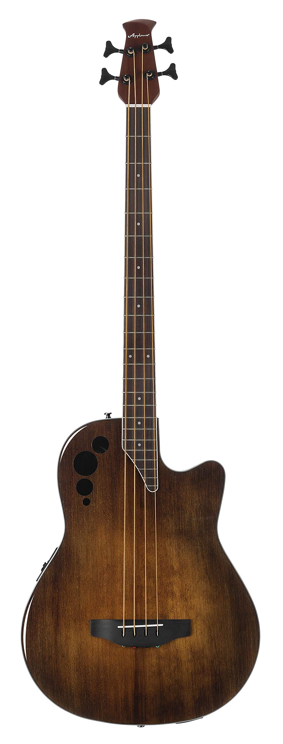 Ovation Applause 4 String Acoustic-Electric Bass Guitar, Right, Vintage Varnish (AEB4II-VV) by Ovation