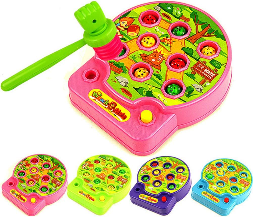NUOBESTY Whack A Mole Game Music Toys Family Funny Toy Baby Educational Toys