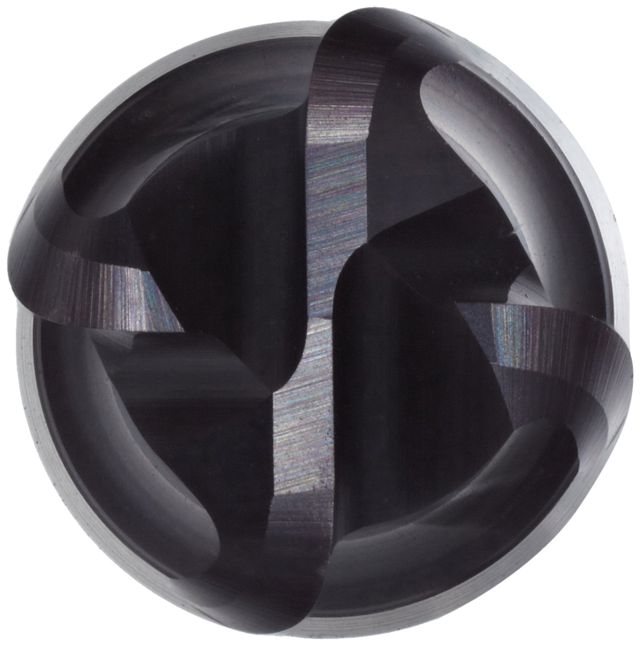 Sandvik Coromant R216.24 Carbide Corner Radius End Mill 3mm Cutting Diameter 57mm Overall Length 6mm Shank Diameter TiAlN Monolayer Finish Metric 0.5mm Corner Radius 50 Deg Helix 4 Flutes Roughing Cut