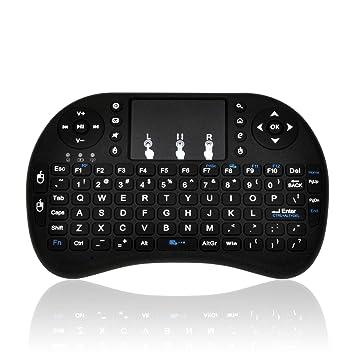 Mini Teclado inalámbrico MWK08 Teclado Multimedia Recargable DE 2,4 GHz con touchpad para PC