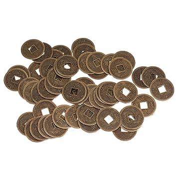 Amazonde Dschili Online Viel 50 Fortune Münzen 2 3 Cm Lucky I