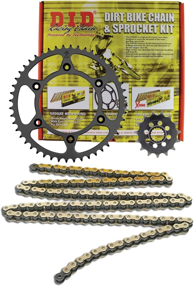 D.I.D MXT-010OEM+1 520DZ2 Gold Chain and 13 Teeth//51 Teeth Sprocket Kit