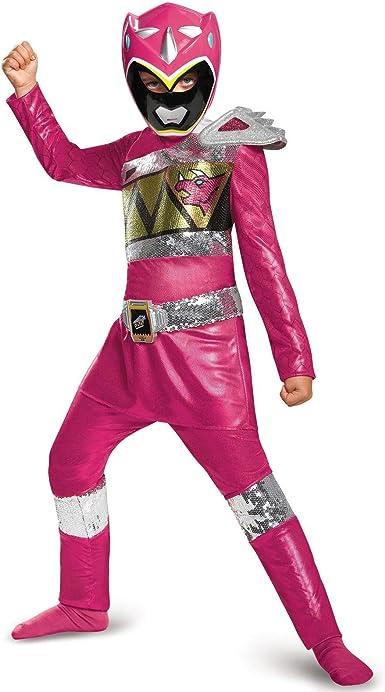 Disfraz de Power Ranger rosa de lujo, tamaño mediano: Amazon.es ...