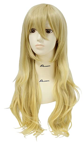 Anogol Hair Cap+Your Lie In April Miyazono Kaori Cosplay Wig Wavy Wigs DM-