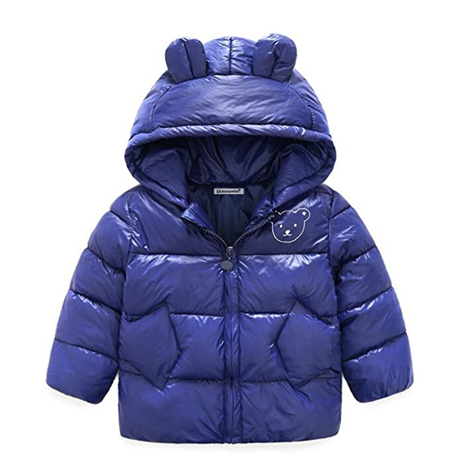 7ab6d44fe Amazon.com  Feilongzaitianba Autumn Winter Baby Boys Girls Jackets ...