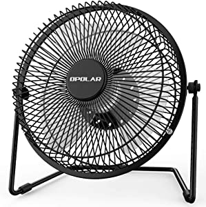 OPOLAR Office Quiet Desk Fan, USB Powered Only, 360 Degree Rotation, Perfect Personal Fan, Mini Metal Cooling FA