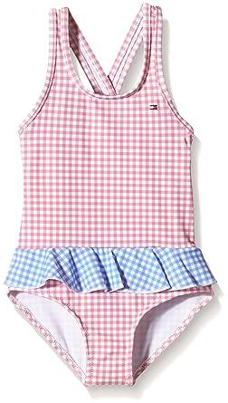 8811f240 Tommy Hilfiger Baby-Girls Monica Gingham Mini Checkered Swimsuit, Pink  (Blush), 92: Amazon.co.uk: Clothing