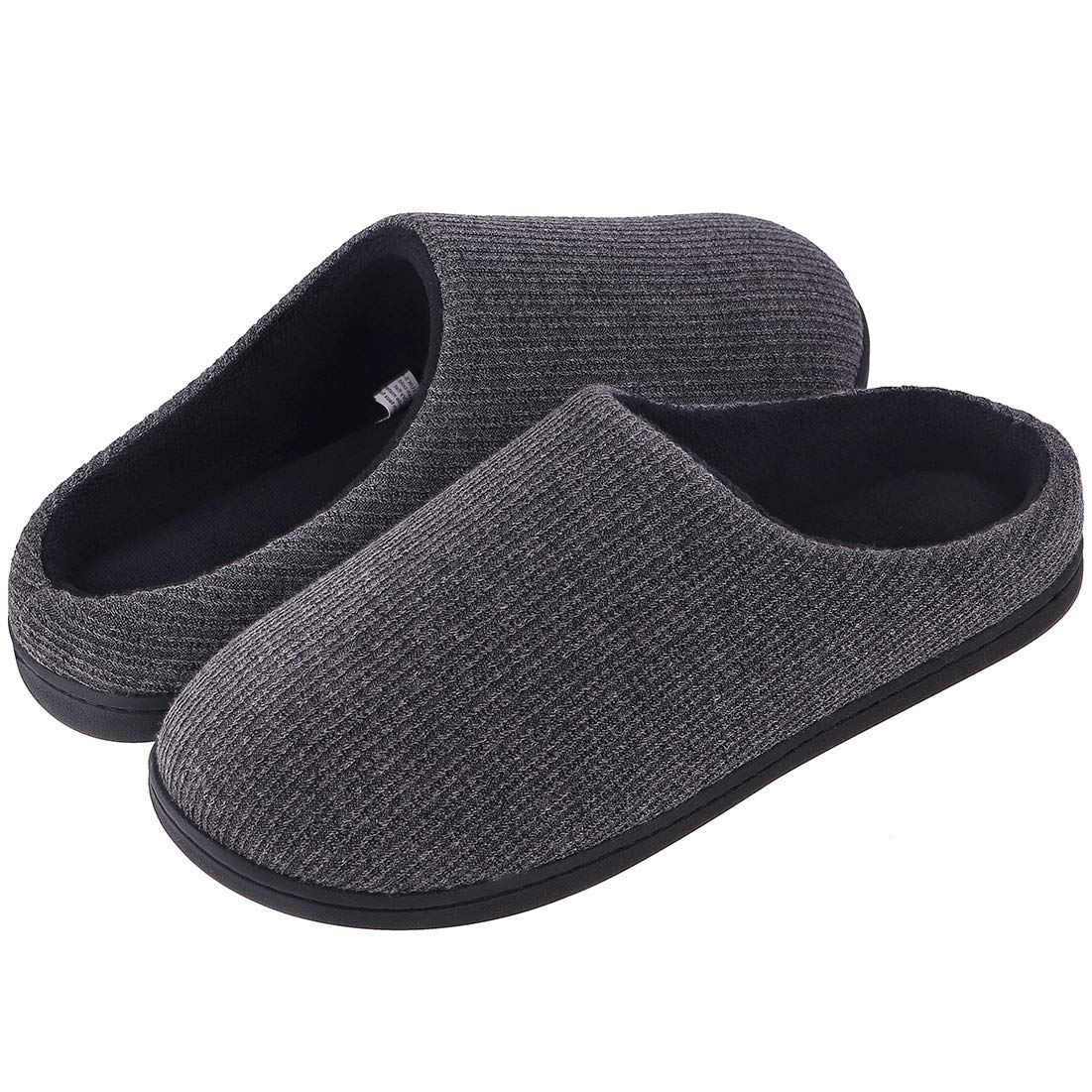 Women's Comfort Memory Foam Cable Knit Slippers Terry Cloth House Slippers w Non Slip Sole