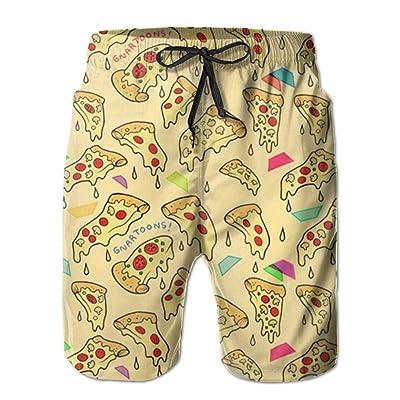 BBAngle Pizza Mens Board Shorts Swim Trunks Men Tropical Basketball Swim Board Shorts
