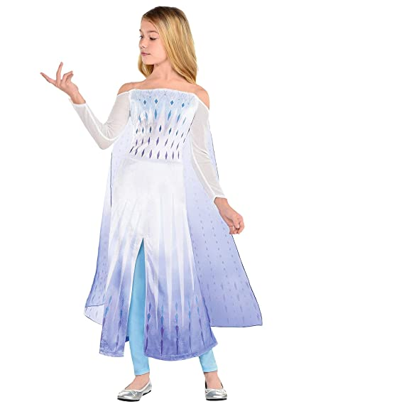 Elsa Halloween Costumes For Kids.Party City Disney Frozen 2 Epilogue Elsa Halloween Costume For Kids Small Includes Dress Leggings For Pretend Play Amazon In Toys Games