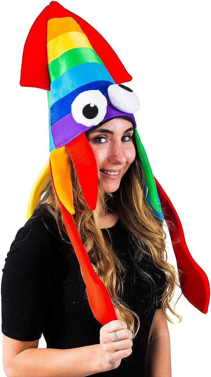 Sea Animal Hat 2 Pack Crazy Hats Rainbow Costume Accessories Tigerdoe Squid Hat Rainbow Squid Hat