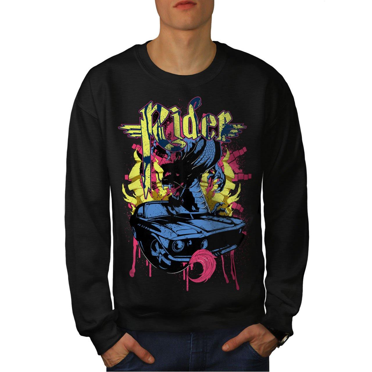 Automobile Casual Jumper wellcoda Rider Blood Sport Mens Sweatshirt
