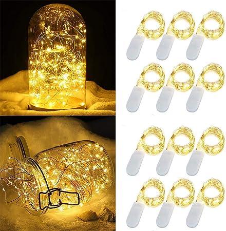 Amazon.com: Luces de hada con pilas, luz blanca cálida ...