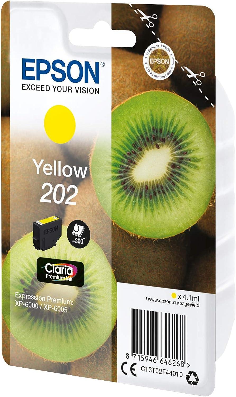 Epson Original 202 Tinte Kiwi Xp 6000 Xp 6005 Xp 6100 Xp 6105 Amazon Dash Replenishment Fähig Gelb Bürobedarf Schreibwaren